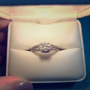 14kt WG 1.17 TCW Diamond Wedding Ring